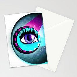 Halftone Eyeball Stationery Cards