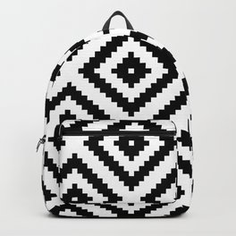 Monochrome Ikat Diamond Pattern (MIni) Backpack