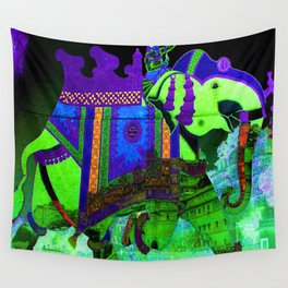 Colorful Elephant Art Wall Tapestry