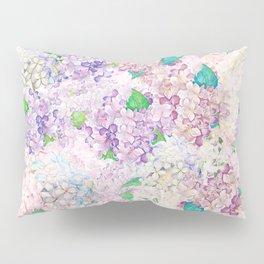 Pastel Purple and blue Lilac & Hydrangea - Flower Design Pillow Sham