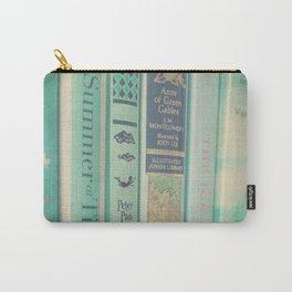 Aqua Mint Books Carry-All Pouch