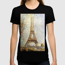 Georges Seurat Eiffel Tower Pointillism T-shirt