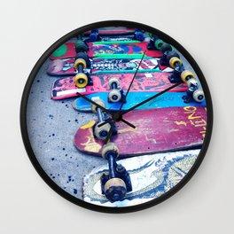 """""""SKATEBOARD THRIFT"""" BY ROBERT DALLAS Wall Clock"""