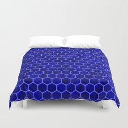 blue beehive Duvet Cover