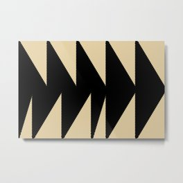 Arrowhead geometry motive Metal Print