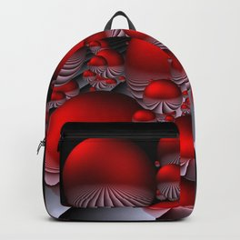 round and red Backpack