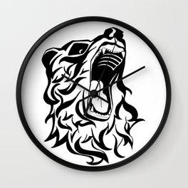 Roaring Bear Wall Clock