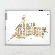 Jackson Wyoming watercolor map Laptop & iPad Skin
