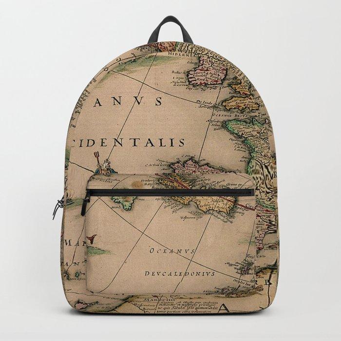 Antique Map Design Backpack