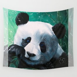 Panda - A little peckish - by LiliFlore Wall Tapestry