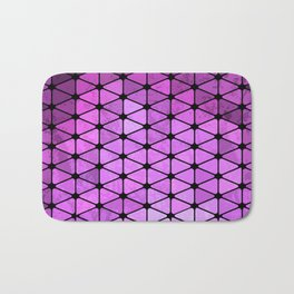 Purple Geometric Design Bath Mat