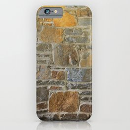 Avondale Brown Stone Wall and Mortar Texture Photography iPhone Case