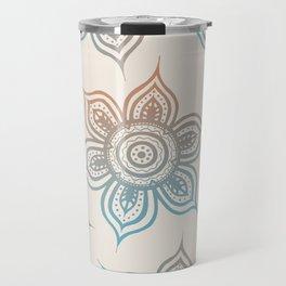 Lotus Mandala (Desert Neutral) Travel Mug