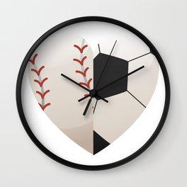 Soccer Baseball Heart Mom - Mothers Day Gifts Wall Clock