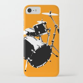 Drumkit Silhouette (frontview) iPhone Case