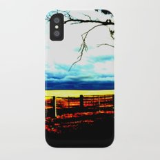 Storm clouds over wheat Fields iPhone X Slim Case