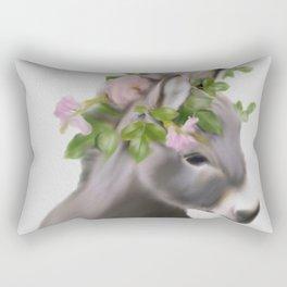 baby donkey crowned art,Donkey Print, Nursery Animal Wall Art, Baby Shower Gift, Kids Room Poster, P Rectangular Pillow