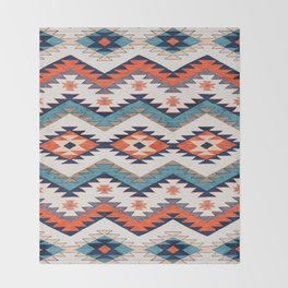 N70 - Bohemian Traditional Vintage Farmhouse Moroccan Style Artwork  Throw Blanket