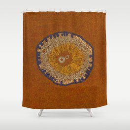 Growing - ginkgo - plant cell embroidery Shower Curtain