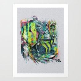 Slobbering Art Print