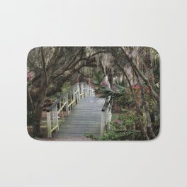 Southern moss and flowers Bath Mat