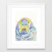 walrus Framed Art Prints featuring Walrus by Catherine Johnson