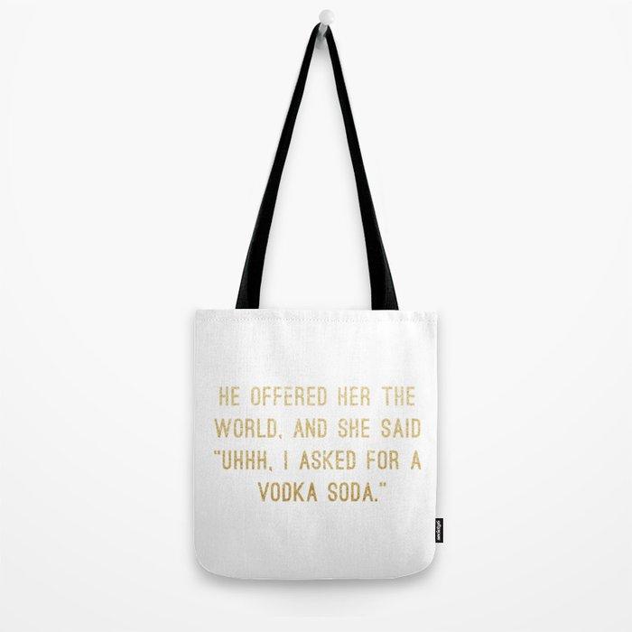 Vodka Soda Tote Bag