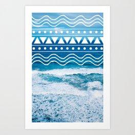 Ocean Doodles #2 Art Print