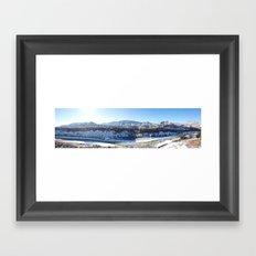 Snowy Horsethief Panorama Framed Art Print