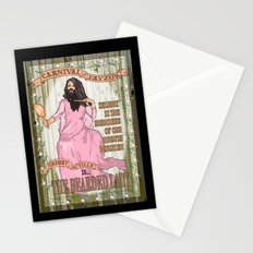 Bearded lady Stationery Cards