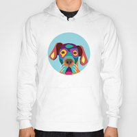 dog Hoodies featuring dog by ron ashkenazi