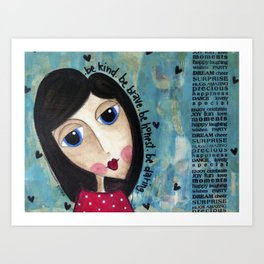 Coco's Closet- Be Kind. Be Brave. Be Honest. Be Daring Art Print