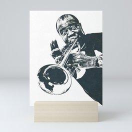 Society6 1000 Elements Of Louis - Louie - Daniel Armstrong Satchmo - Satch - Pops - Pop Sketch-Art 2 Mini Art Print