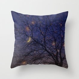 Starry night- an illustrated poem Throw Pillow