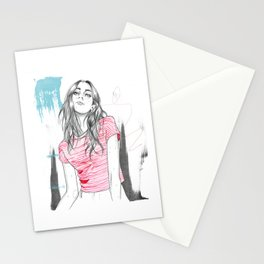 Ocean vibes fashion illustration Stationery Cards