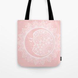 Mandala Moon Pink Tote Bag