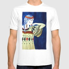 Indian Girl Mens Fitted Tee White MEDIUM
