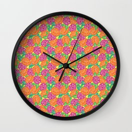 BRIGHT ROSES Wall Clock