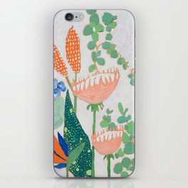 Proteas and Birds of Paradise Painting iPhone Skin