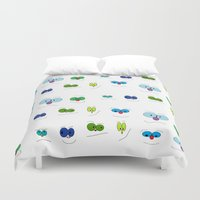 faces Duvet Covers featuring Faces by Mesa-Teresita