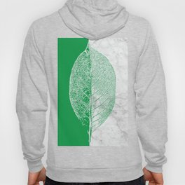Natural Outlines - Leaf Green & White Marble #452 Hoody