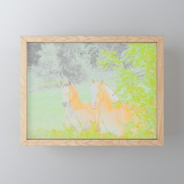 Horse Racing Riding Farm Field Countryside Abstract Framed Mini Art Print