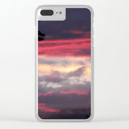 Patriotic Sky Clear iPhone Case