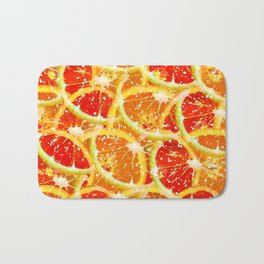 Snow citrus Bath Mat