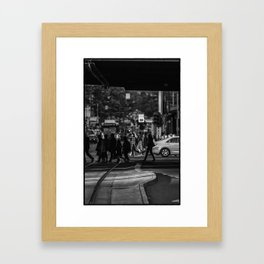 If you go down this way...(Flinders St, 2012) 2/2 Framed Art Print