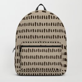 Bold Pattern Coffee Backpack