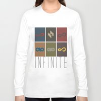 infinite Long Sleeve T-shirts featuring Infinite by Sara Eshak
