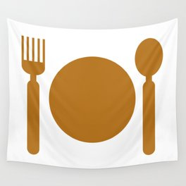 plate with cutlery Wall Tapestry