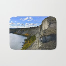 Cliffs on the Yukon River Bath Mat