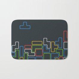 Retro Blocks Video Game Color Pattern Bath Mat
